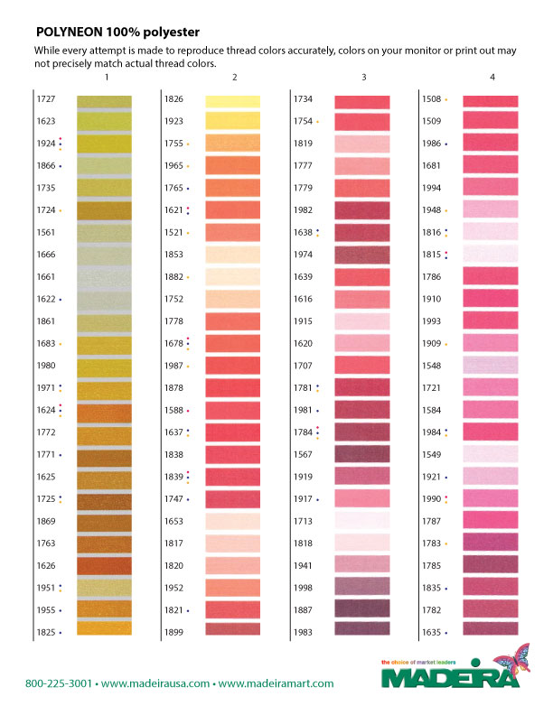Madeira Thread Color Chart Polyneon Photos Chart In The Word